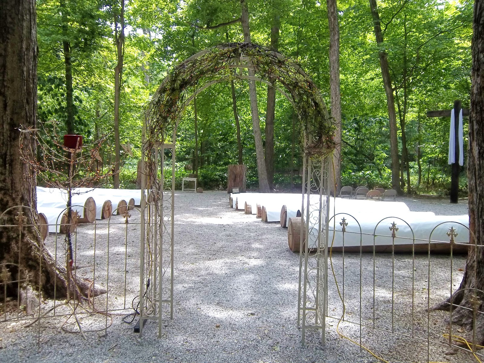 Funks Grove Wedding Harp Music For A Chapel In The Trees Ceremony