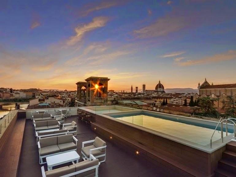 Curiosit di firenze le serate dell empireo american bar pool il nuovo rooftop con piscina - Hotel con piscina firenze ...