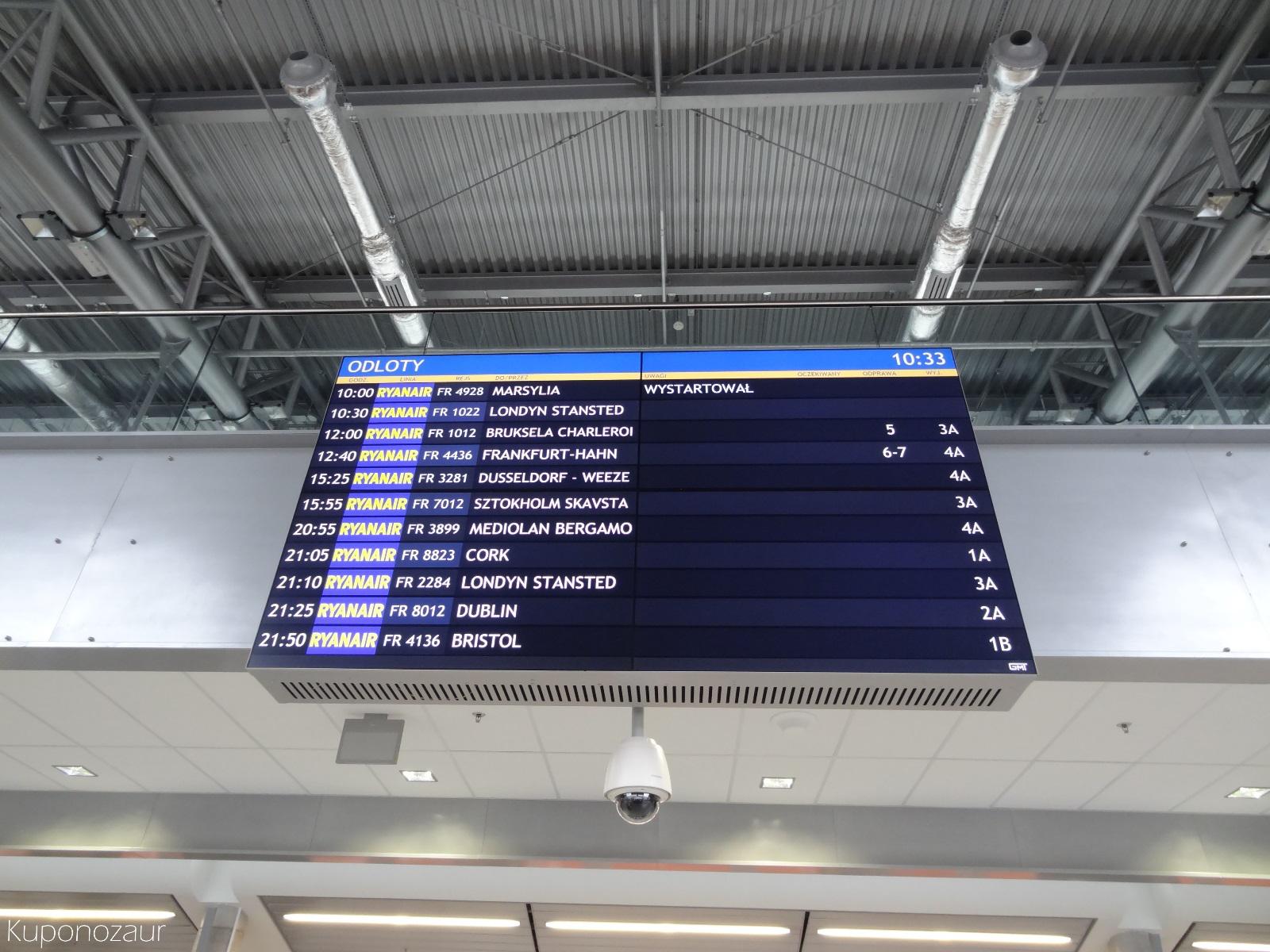 Lotnisko Warszawa Modlin tablica odlotów