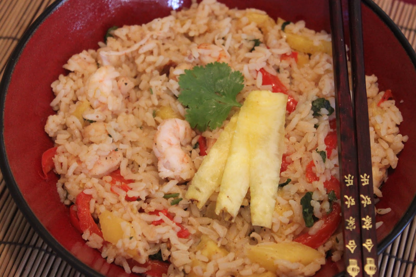 Foodie Can Cook Too!!!: Thai Pineapple Shrimp Fried Rice