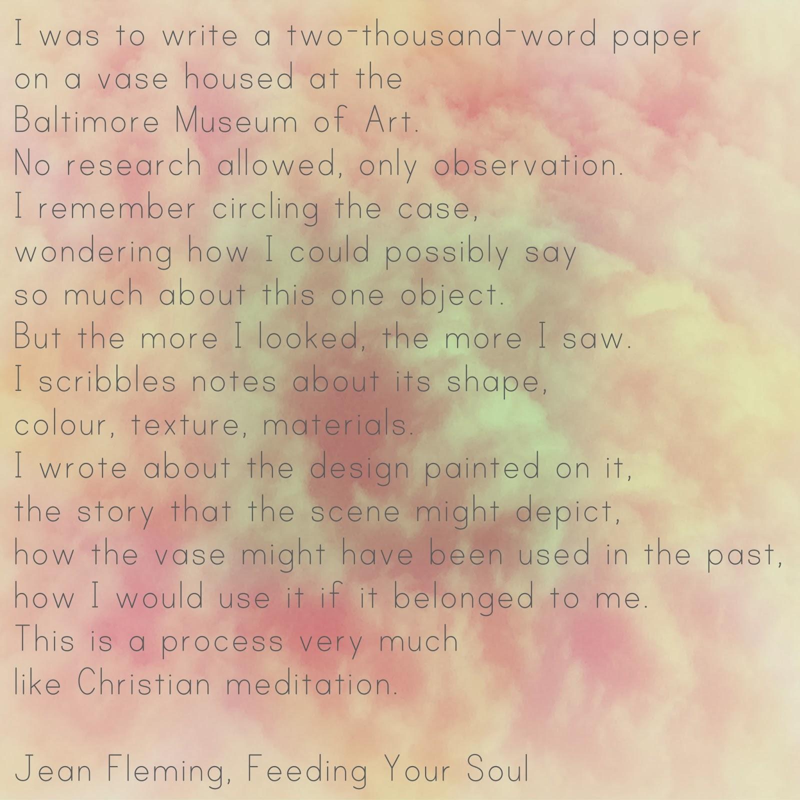 feeding my soul