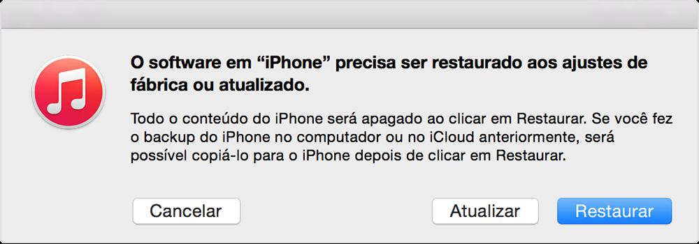 Restaurar iPhone para ajustes de fábrica