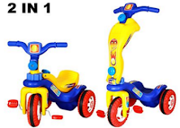 Buy Playtool Multi Tricycle Cum Scooty 2 In 1 Scooter At 90% off at Rs 500 :Buytoearn