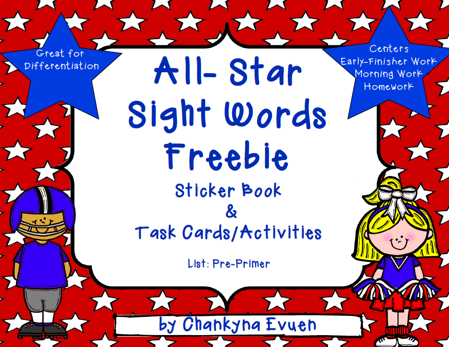 http://www.teacherspayteachers.com/Product/Freebie-Sight-Word-Activity-Pack-Word-Work-Kindergarten-1st-364269