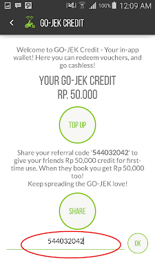 Cara mendaptkan 50 ribu Gojek credit gratis
