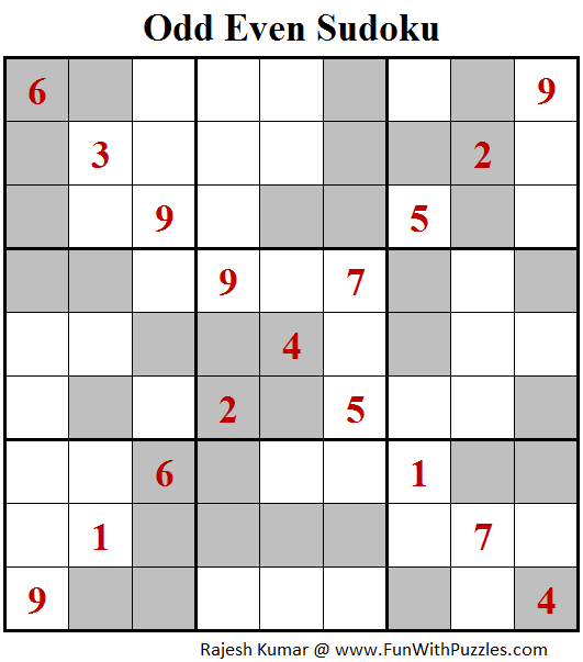 Odd Even Sudoku (Fun With Sudoku #132)