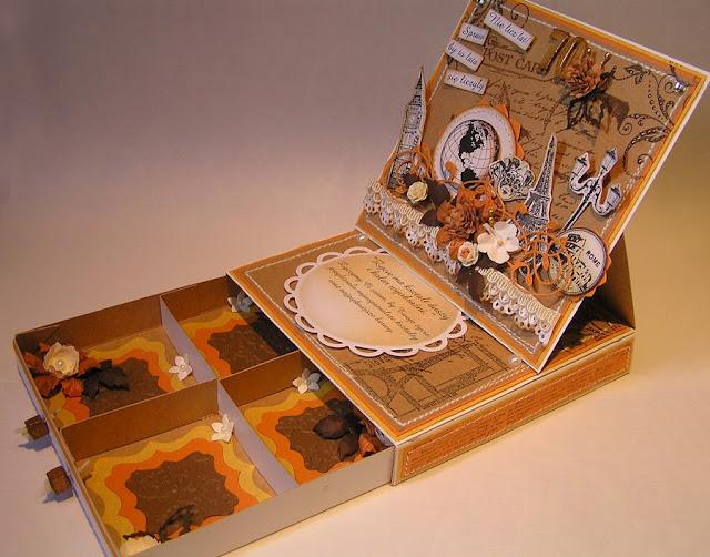 Moemory Box Valerian Flourish (98196), kartka sztalugowa z szufladą