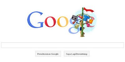 revolusiilmiah.com - Panjat Pinang jadi desain untuk Doodle tahun 2011