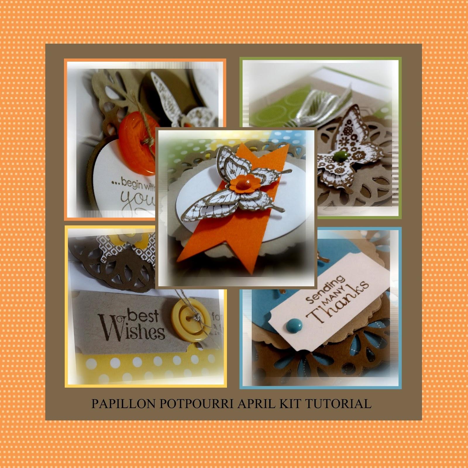 Me my stamps and i april papillon potpourri project kit for Tutorial papillon