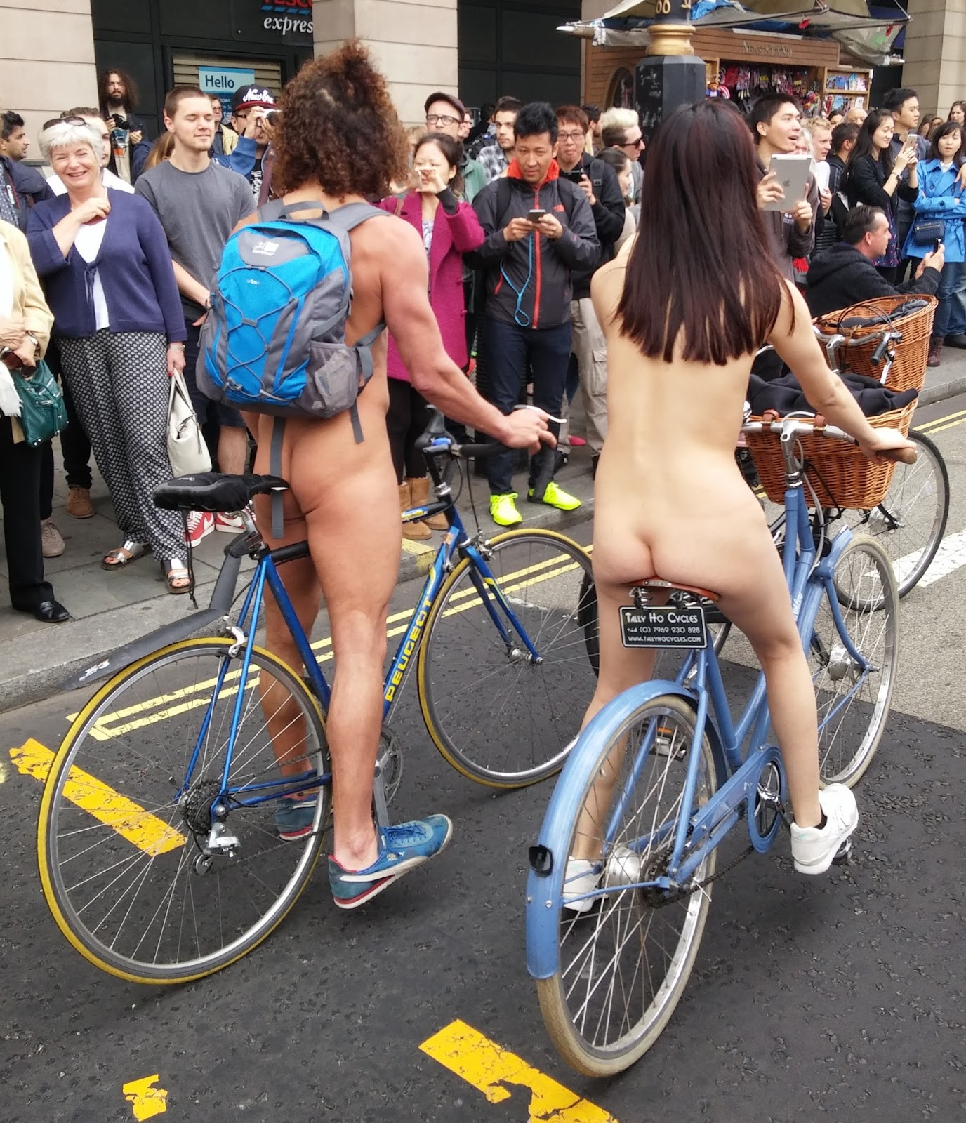 Something Nude asian on bike