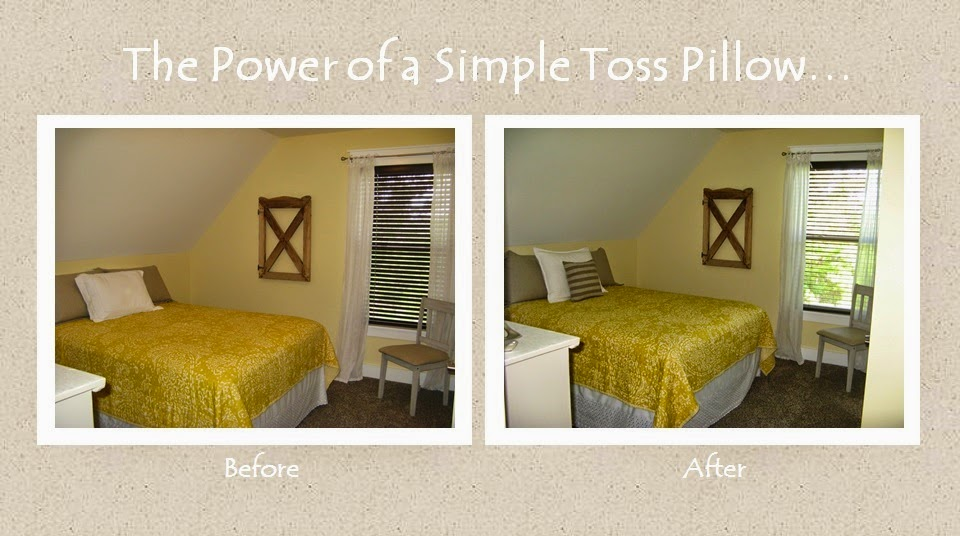 The power of a simple toss pillow