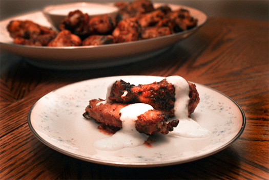 Baked Buffalo Chicken Wings with Kicked-Up Ranch