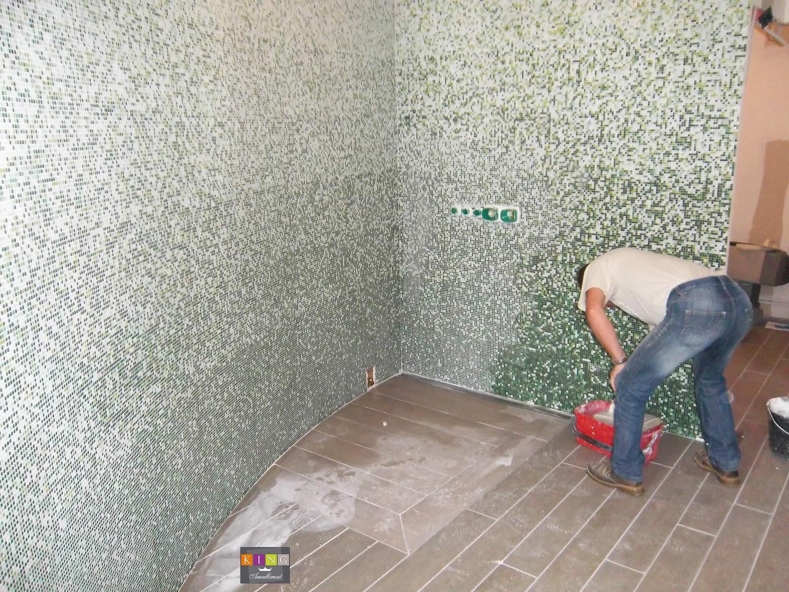 salle de baindouche litaliennebalneomosaique - Salle De Bain Mosaique Douche Italienne