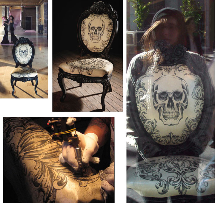 Skull Chair by Scott Campbell