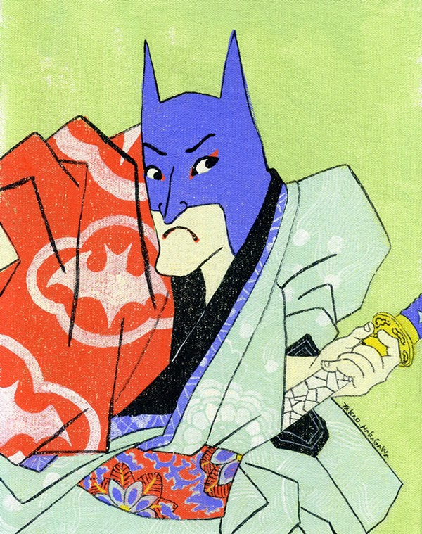 Batman en ukiyoe