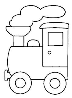 t4 Desenhos de Trenzinho para Imprimir