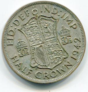 UK Half Crown 1942 lotjun3856