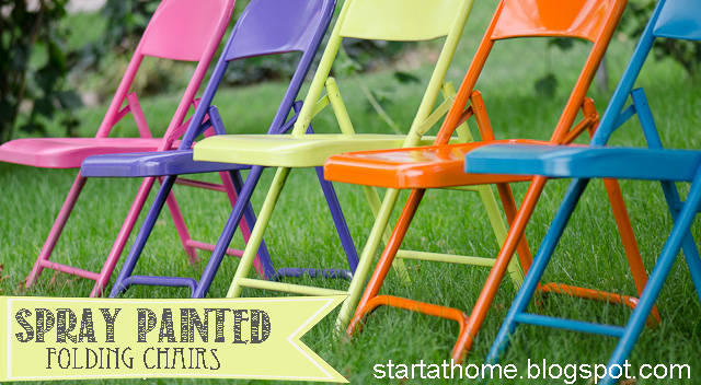Ordinaire These Colorful Folding Chairs Sure Grabbed My Attention. Start At Home  Decided It Was Time To Not Have Her Guests Sit On Rust.