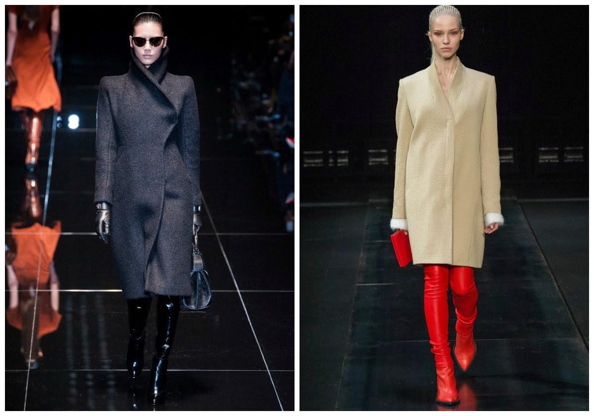 Модные пальто 2014-2015 года. Уличная мода, блогеры и подиум.