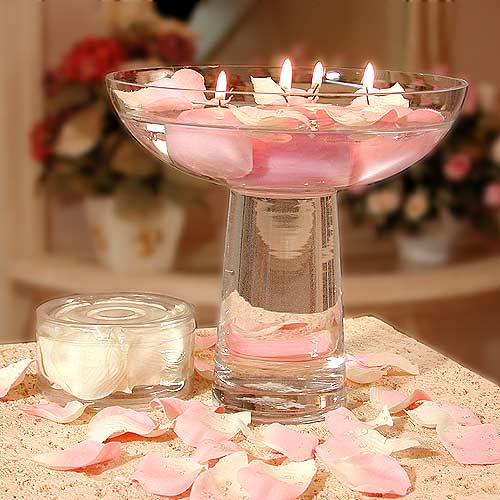 Wedding Reception Centerpieces Candles: Table Decoration Ideas