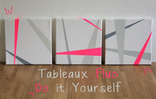 Tableaux Fluo design à faire soi-même