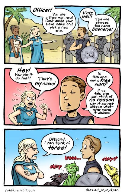 comic khaleesi inmaculados - Juego de Tronos en los siete reinos