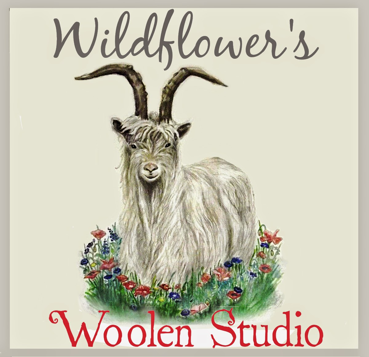 Wildflower the Goat - for a Logo and Button