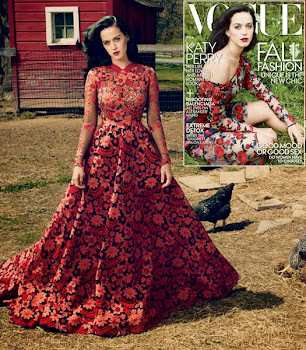 Katy Perry Wears Old Drapes for Vogue Shoot