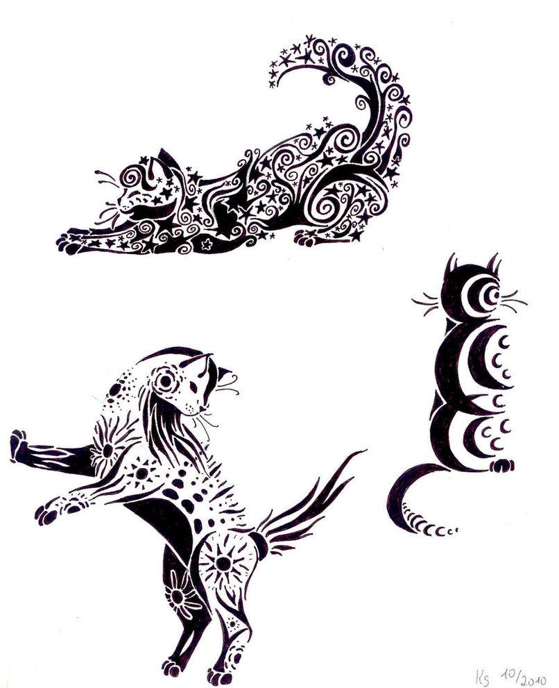 Gang Tattoos Symbols Prison Tattoo Designs Tribal cat tattoo pictures