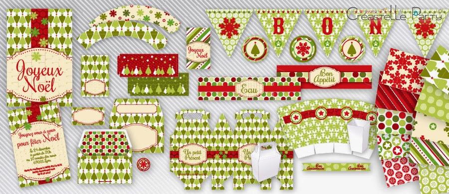 Créastelle Party - editable Christmas party kit