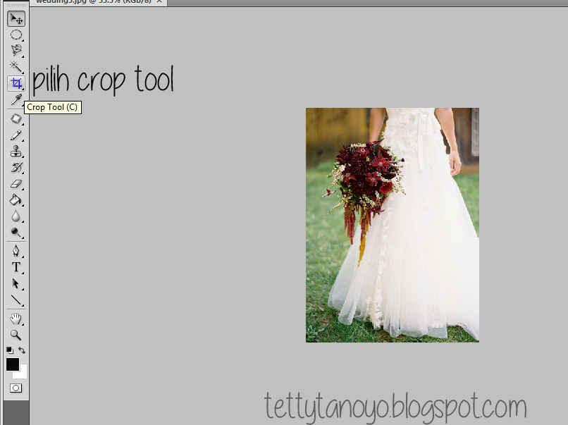 mengcrop image di photoshop cs4, edit photo di photoshop cs4