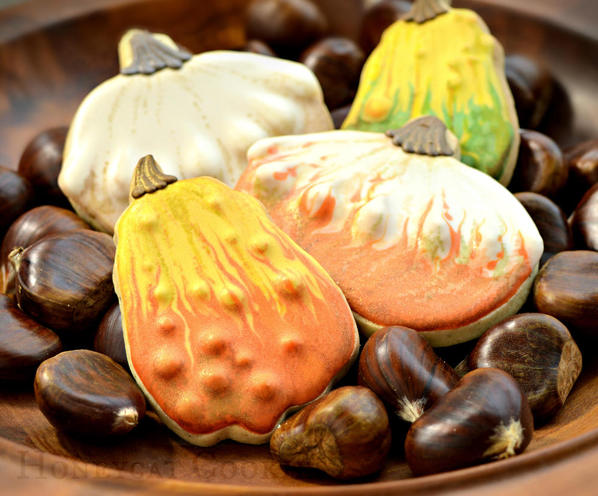 http://cookieconnection.juliausher.com/blog/knobbly-gourds