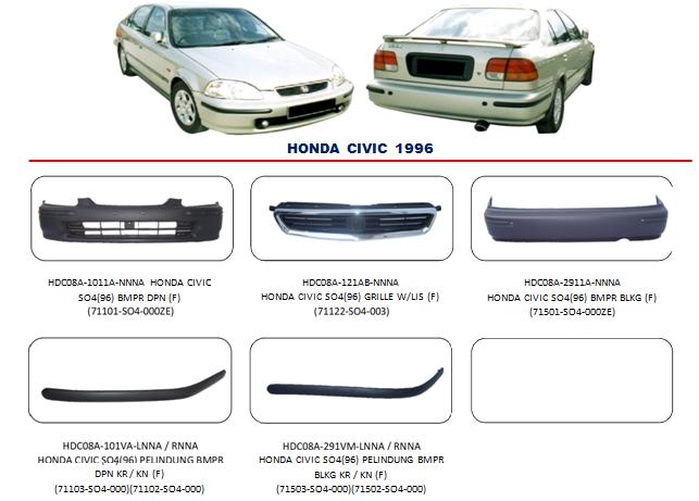 Bemper Honda Civic 1996