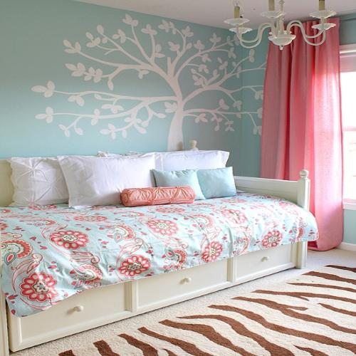 Una pizca de hogar paredes con aires nuevos - Decorar pared cabecero cama ...