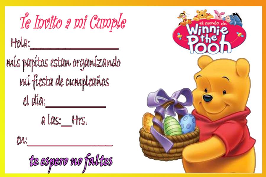Tarjetas de cumpleaños de Winnie Pooh bebé - Imagui