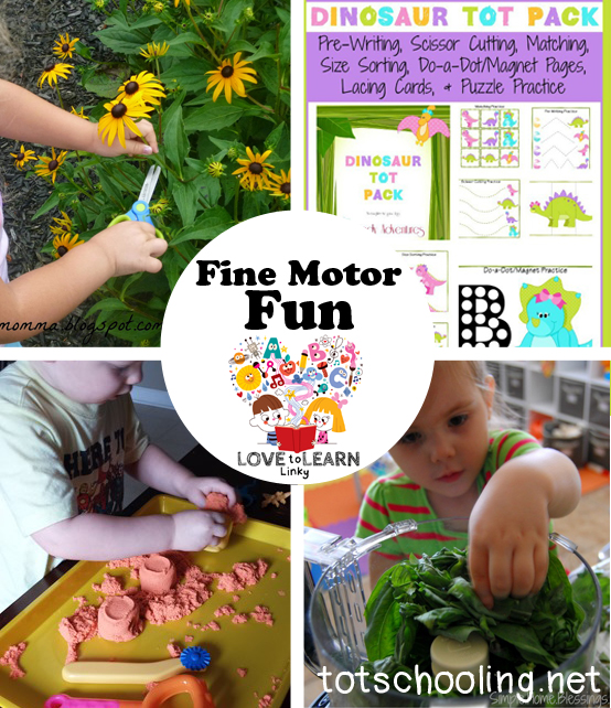 Fine Motor Fun: Love to Learn Linky
