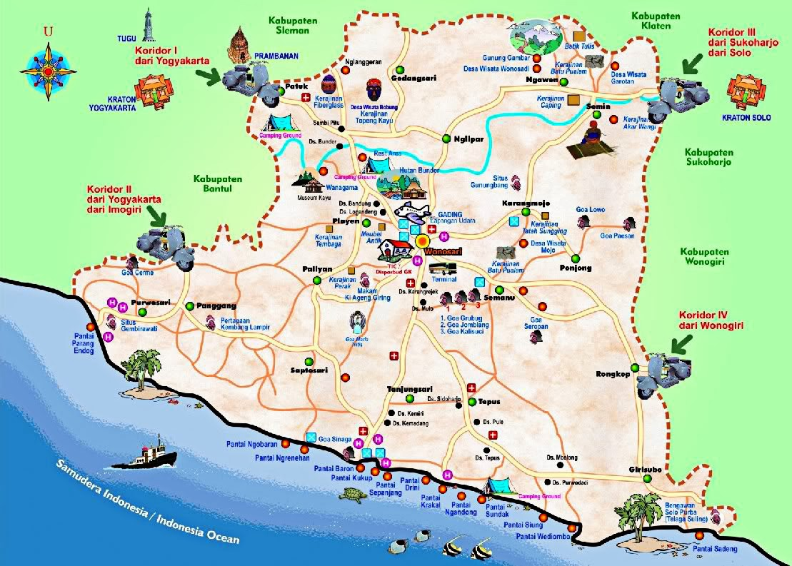 Daftar Pantai Di Wonosari Gunung Kidul Dan Sekitarnya
