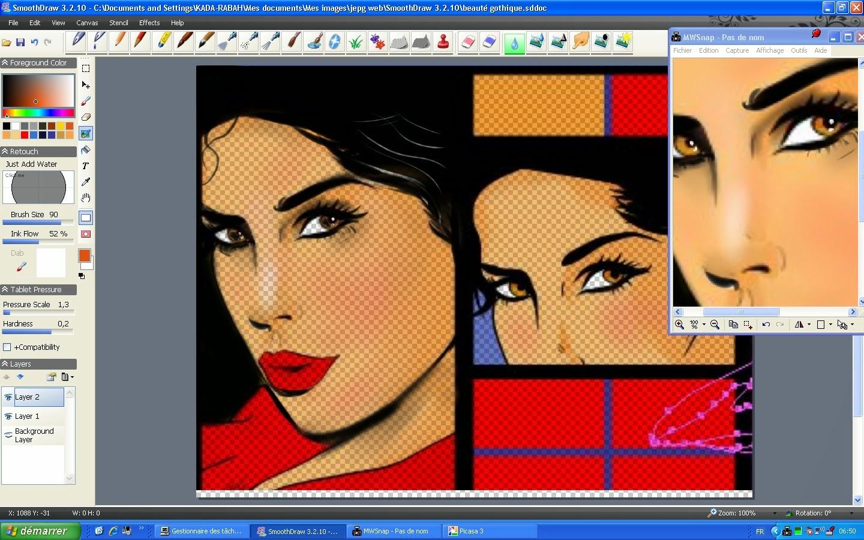 Extrêmement Beauté Goth (étape dessin évolution cadrage,collage suite  WJ34