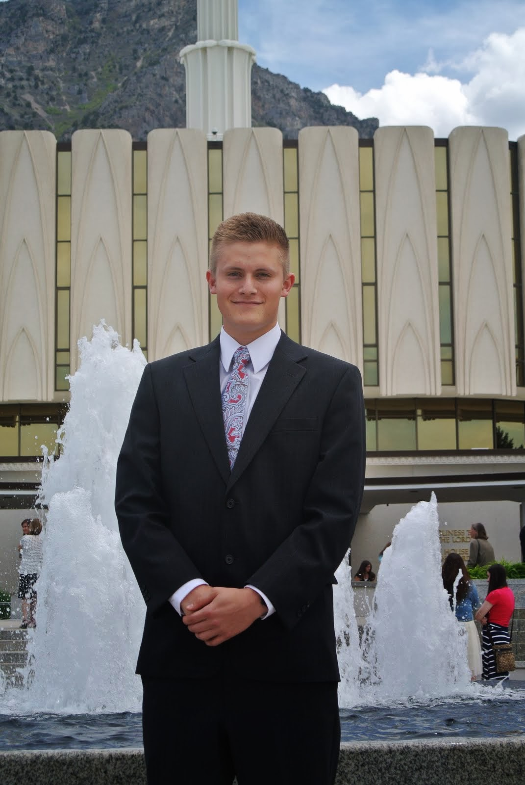 Elder Travis John Bloomfield in Fukuoka, Japan