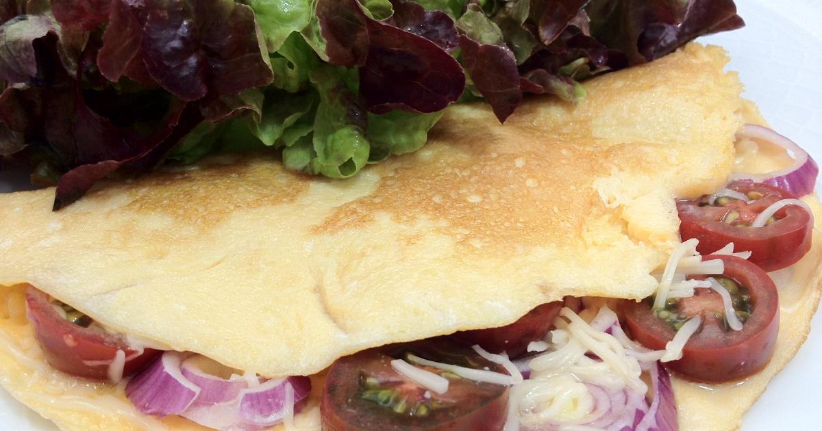 Cocina con ana tortilla de cebolleta tomatitos y queso - Ana cocina facil ...