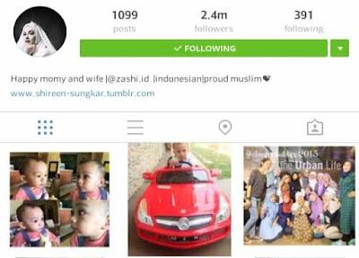 Akun Instagram Shireen Sungkar Indonesia Terpopuler 2016