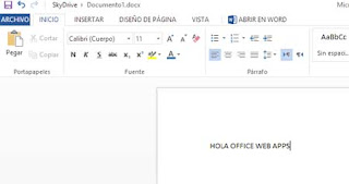 Documentos Office web apps