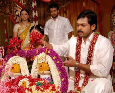 Surya and Jothika in Karthi wedding stills