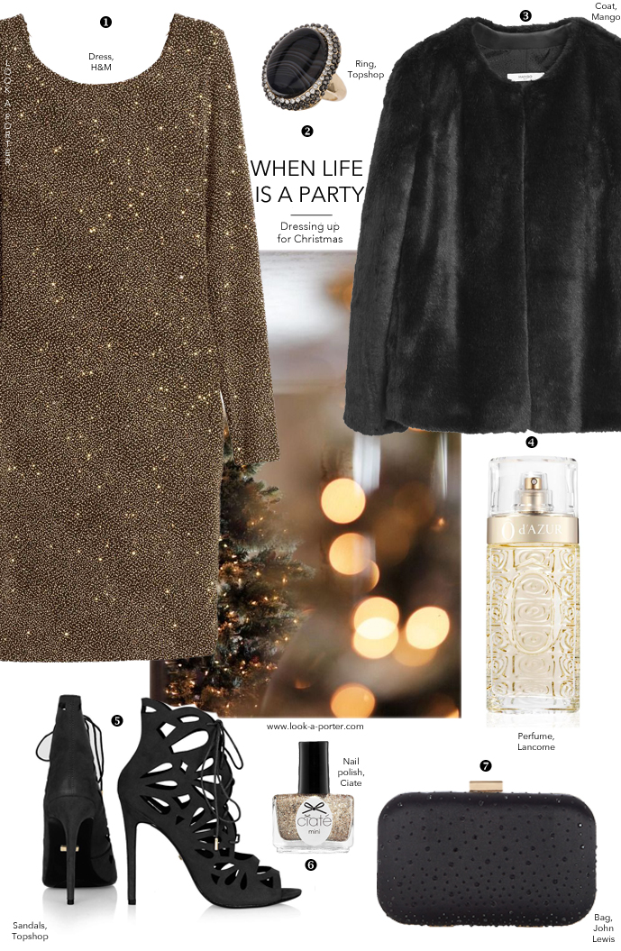 Styling a Christmas party look for less with beautiful high street finds via www.look-a-porter.com