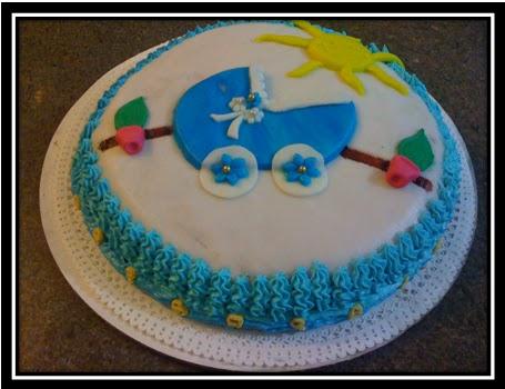 Torta de baby shower con cigueñas - Imagui