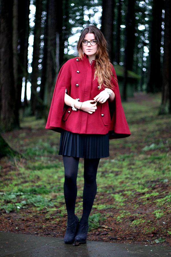 Jade Rose in Anthropologie wool cape