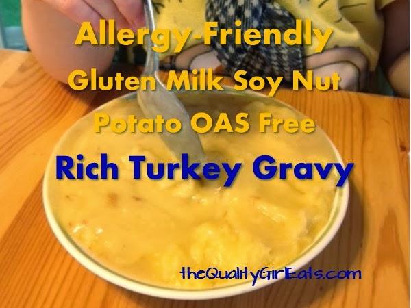Rich Turkey Gravy (Allergy Friendly: Gluten Free Milk Free Soy Free ...
