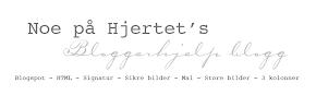 Bloggtips fra bloggen til NOE PÅ HJRTET.