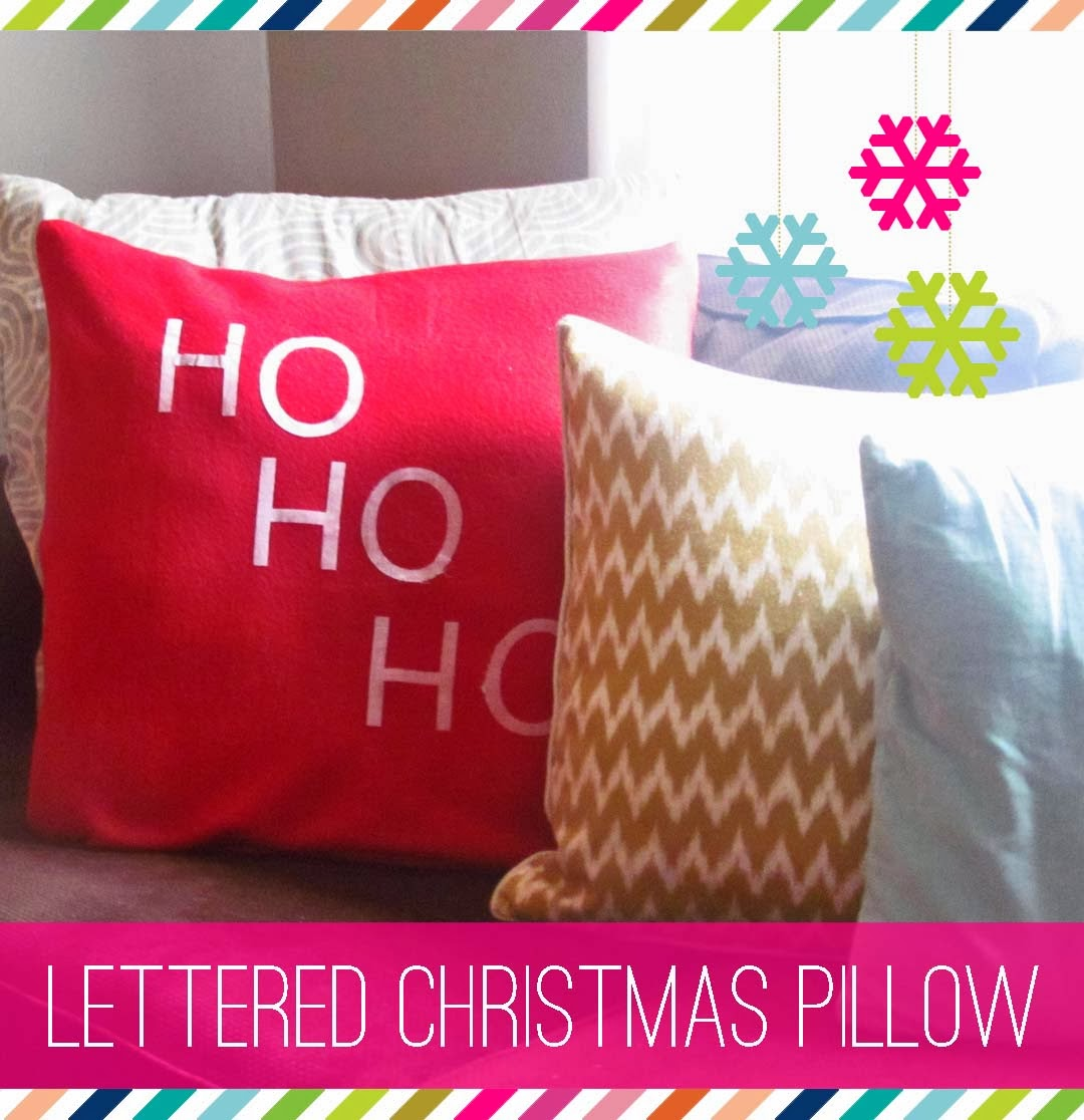 Diy Decorative Christmas Pillows : DIY: Lettered Christmas Pillows - The House on Hillbrook