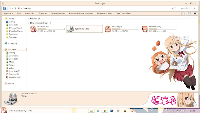 Theme Windows 8.1 and 10 Himouto Umaru-chan By Bashkara